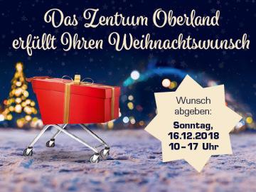 Das Zentrum Oberland erfüllt Ihren Weihnachtswunsch